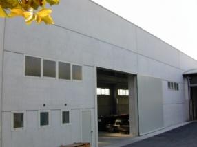 Vista esterna del capannone di ultima costruzione